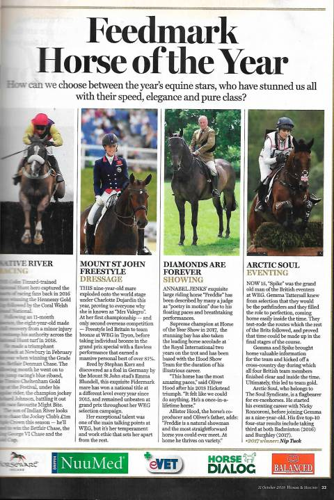 Horse & Hound October 2018 Mount St John Freestyle