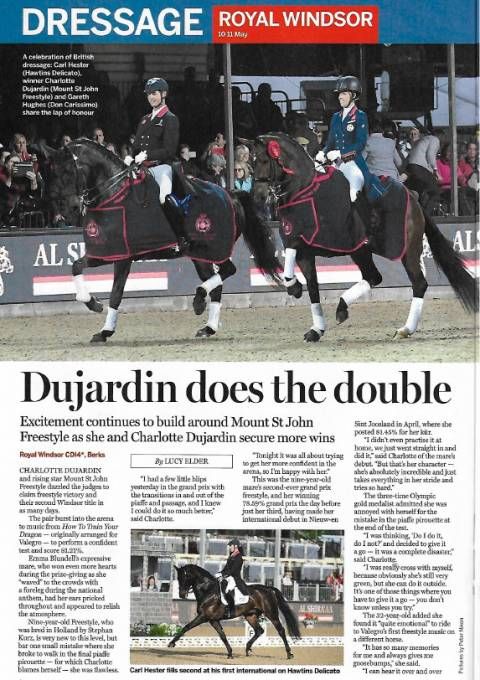 Horse & Hound May 2018 Durjardin does the double