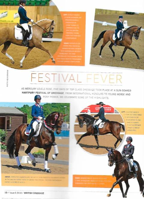 British Dressage issue 6 2018 Festival Fever