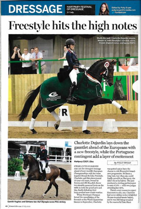 Horse & Hound July 2019 Freestylehits the high notes